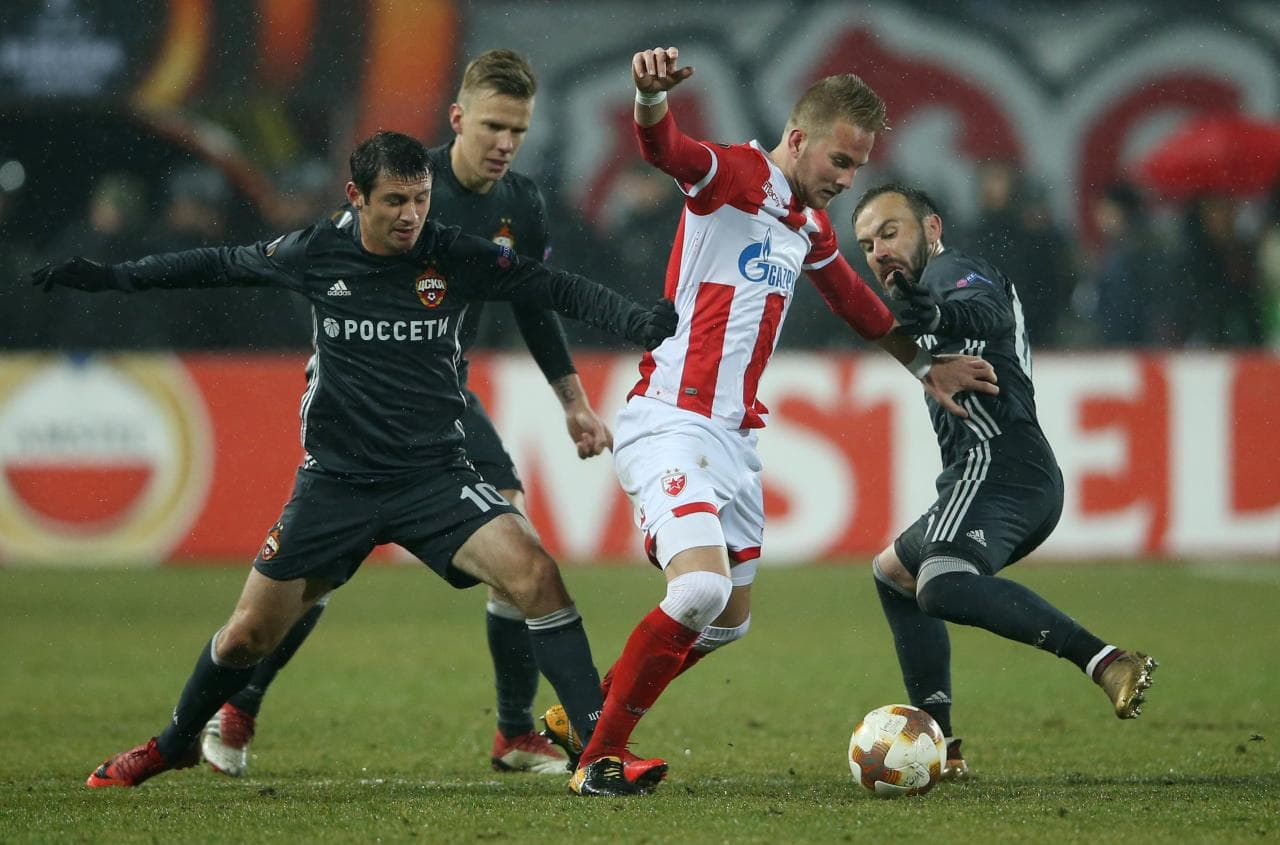Europa League CSKA Moscova – Red Star Belgrade 21.02.2018