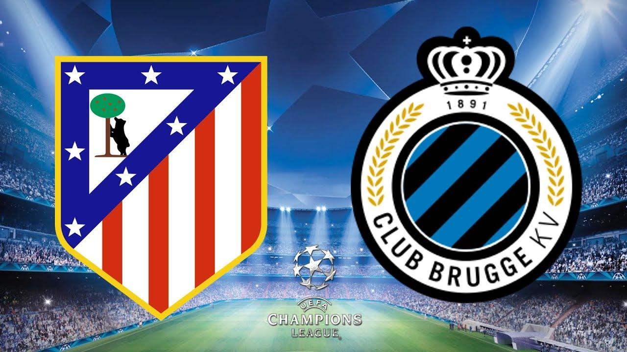 Champions League Atletico Madrid v Club Brugge